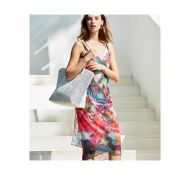 Amazonia Printed Lace Scarf-dress