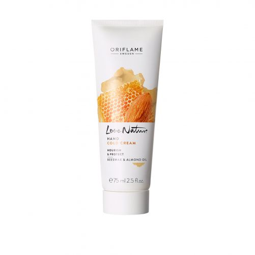Love Nature Hand Cold Cream Nourish & Protect Beeswax & Almond Oil