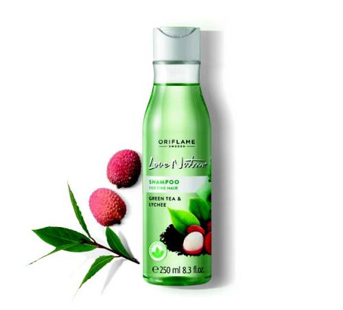 Love Nature Shampoo for Fine Hair Green Tea & Lychee