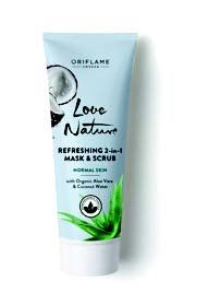 Love Nature Refreshing 2-in-1 Mask & Scrub with Organic Aloe Vera & Coconut Water