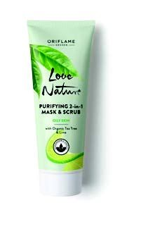 Love Nature Purifying 2-in-1 Mask & Scrub with Organic Tea Tree & Lime