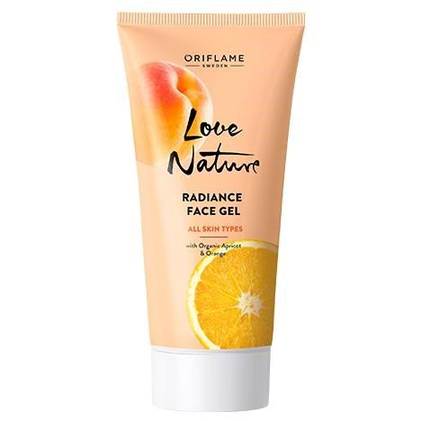 Love Nature Radiance Face Gel with Organic Apricot & Orange
