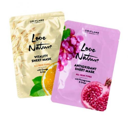 Love Nature Vitality Sheet Mask All Skin Types