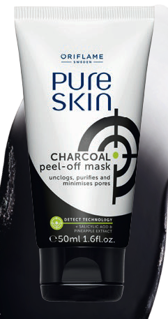 Pure Skin Charcoal Peel Off Mask Oriflame Cosmetics Sweden Uk Usa Shop Buy Join